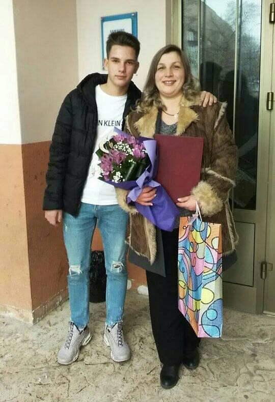 Dijana Kostić sa sinom