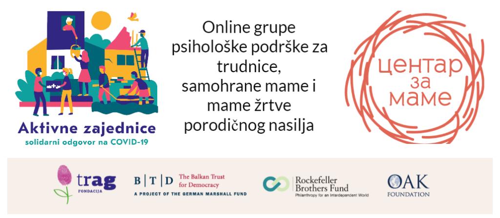 Online grupe psihološke podrške za trudnice, samohrane mame i mame žrtve porodičnog nasilja