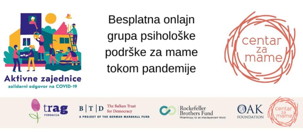 Besplatna onlajn grupa psihološke podrške za mame tokom pandemije
