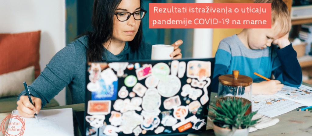 Rezultati istraživanja o uticaju pandemije COVID-19 na mame